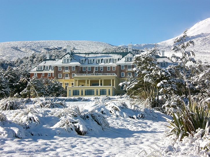Tongariro Hotel in the Winter