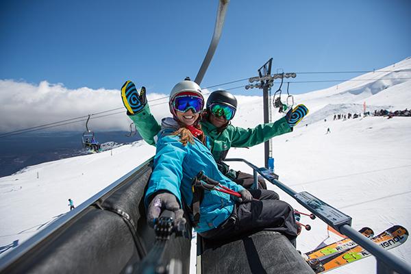 Skiing in the Winter at Turoa